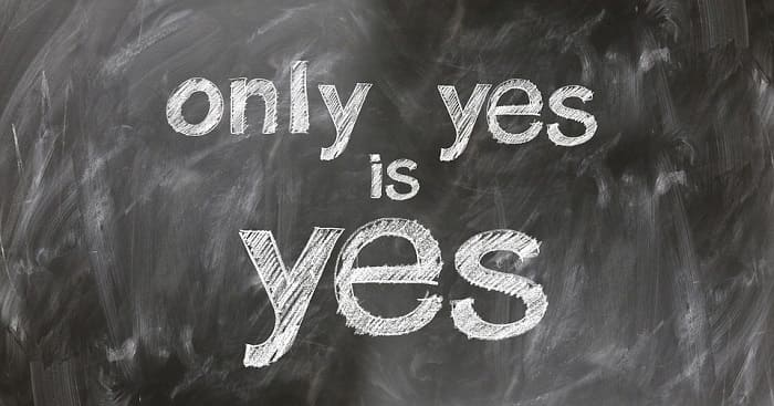 Blackboard, only yes is yes!